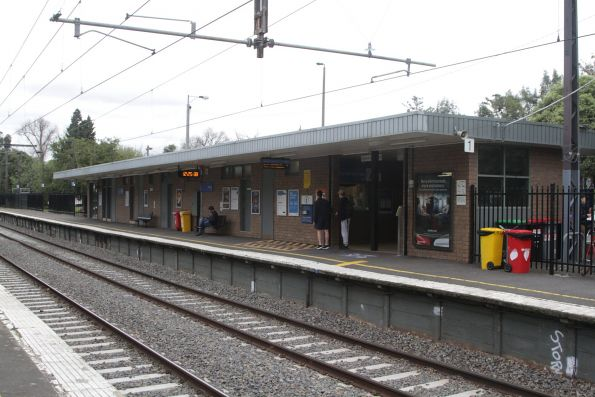 Station building at Darling platform 1