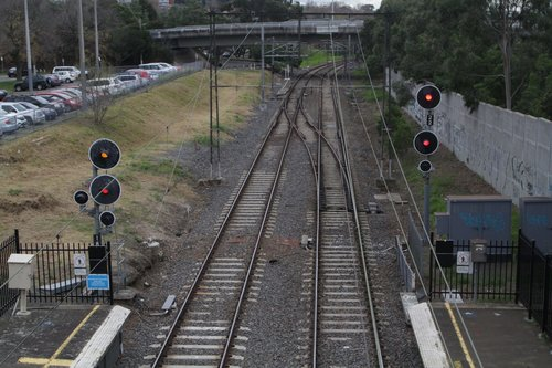 Crossover at the up end of Darling station