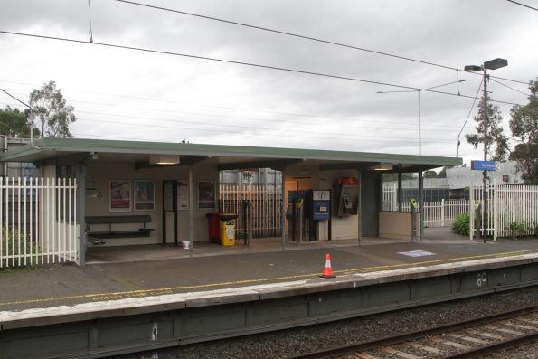 Station building at East Malvern platform 2