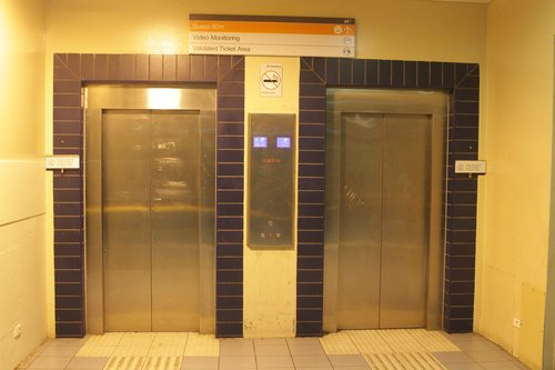 Pair of lifts link platform and concourse at Boronia station