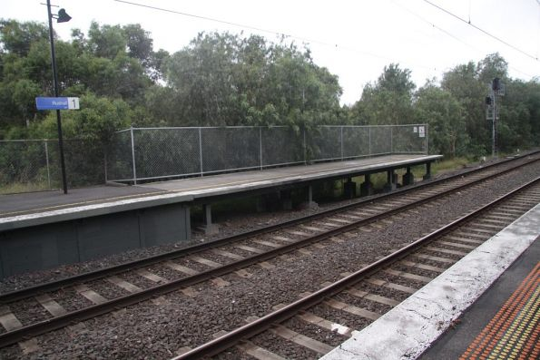 Platform extensions at the up end of Rushall station