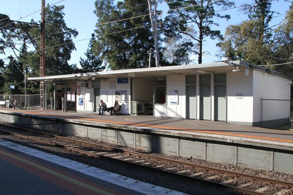 Station building at Rosanna platform 1