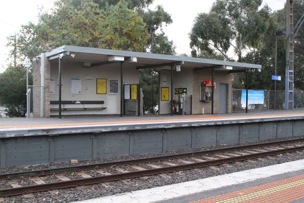 Station building at Croxton platform 2