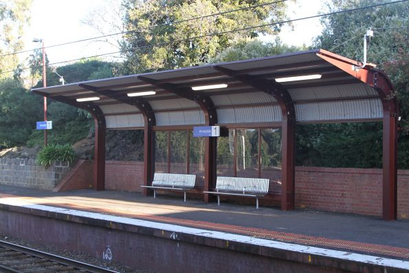 Heritage styled platform shelter on at Armadale station platform 1