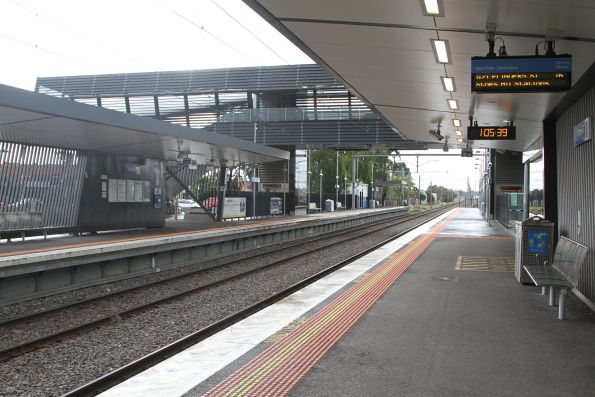 Footbridge between the platforms at Thomastown