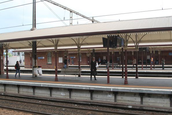 Looking across the platforms at North Melbourne station from platform 1