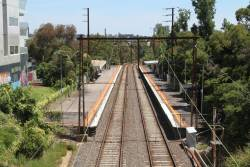 Looking down on Darebin station