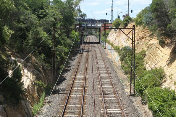 Double track at the down end of Darebin station
