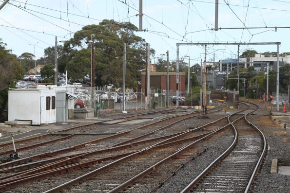 Stabling sidings at the down end of Frankston station