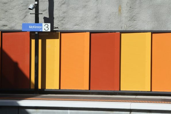 Identical looking station walls at McKinnon, Ormond and Bentleigh station