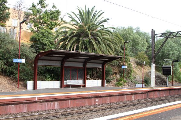 Heritage styled platform shelter at the up end of Toorak platform 1