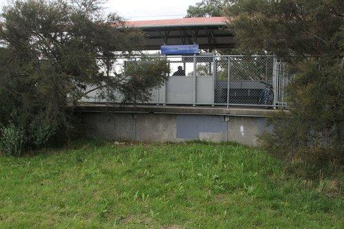 Provision for a second platform face at Merinda Park station