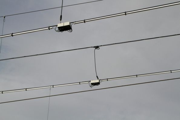 LED strip lighting above the stabling sidings at Frankston
