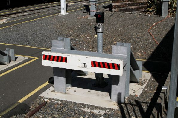 Buffers at the down end of Sandringham platform 1