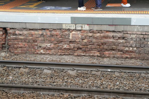 Bricked up 'staff only' steps at Footscray platform 5