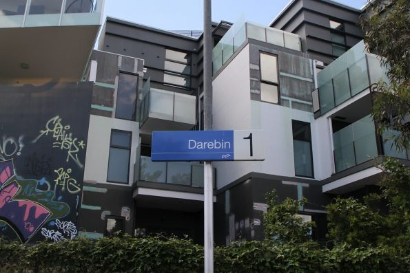 Apartment blocks tower over Darebin station