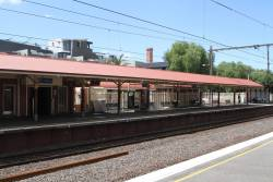 Heritage listed platform shelter at Clifton Hill platform 1