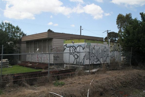 Metro Trains works compound at Northcote station