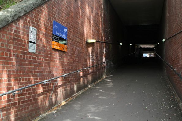 Ramp in the pedestrian subway at Heidelberg station