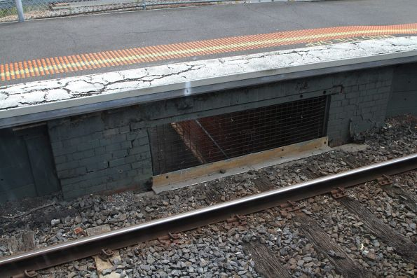 Pedestrian subway passes beneath the tracks at Dennis