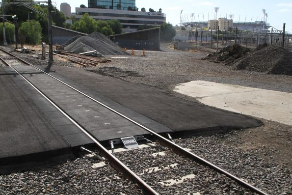 Hi-rail access pad on the Clifton Hill group tracks at Flinders Street