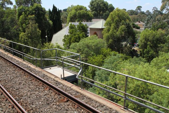 Handrails on the Darebin Creek bridge at Alphington