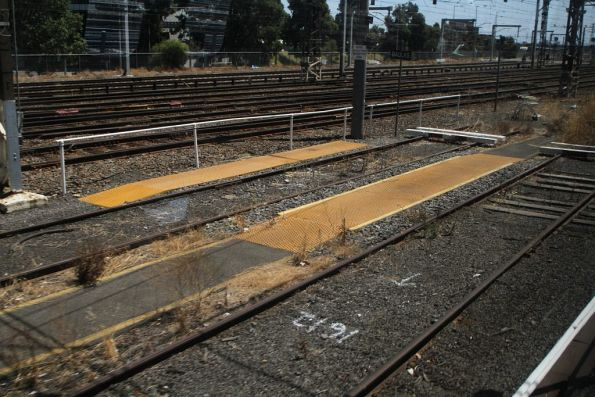 Access pads for train drivers at the Layby Sidings at Southern Cross