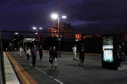 Sunset at Footscray station