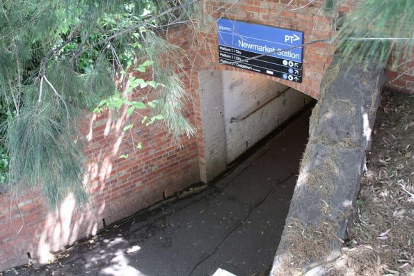 Pedestrian underpass at the middle of Newmarket station