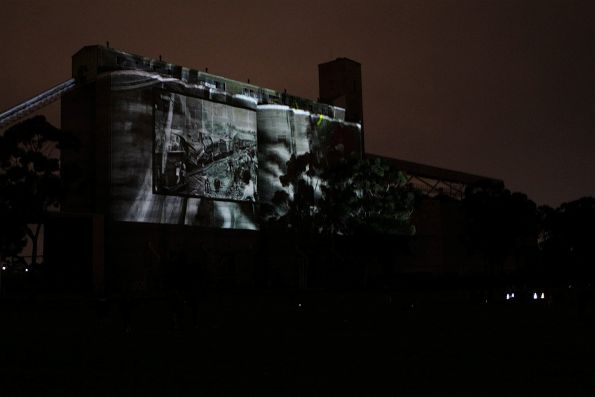 Photograph of the 1908 Sunshine rail disaster featured at the Sunshine Silos Projection Festival