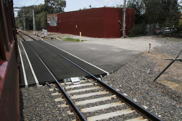 Hi-rail access pad at the down end of Essendon