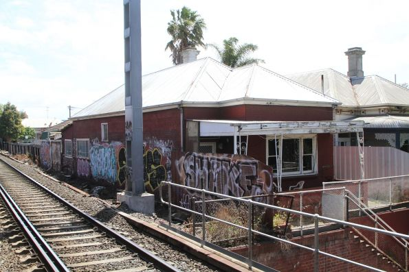 House right beside the railway tracks at Middle Footscray