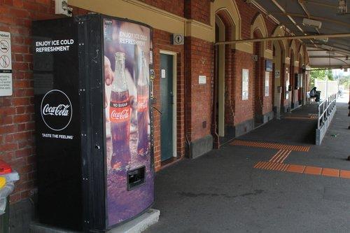 Coke vending machine at Ascot Vale station