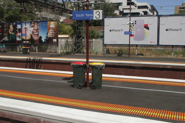 Realigned and resurfaced platforms at South Yarra