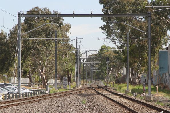 End of the double track at the down end of Gowrie