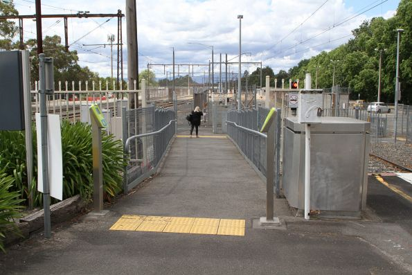 Second platform exit at the down end of Lilydale station