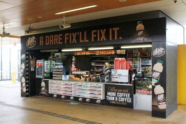 Kiosk inside the paid area at Sunshine station