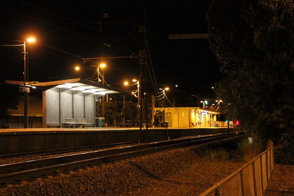 Late night at Albion station