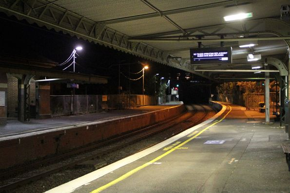Looking between the platforms at West Richmond