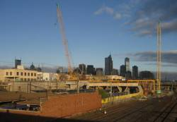 Work continues on North Melbourne station