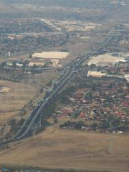 Aerial view of the Western Ring Road through Tullamarine
