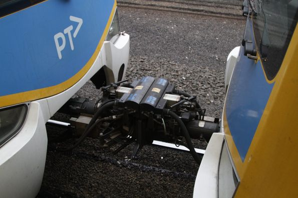 Dellner coupler linking two Siemens trains