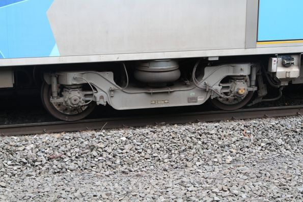 Bogie beneath a Siemens train
