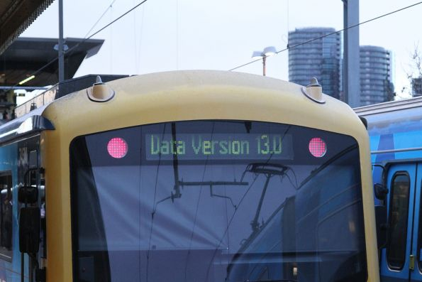 'Data Version 13.0' message displayed on the headboard of Siemens 745M