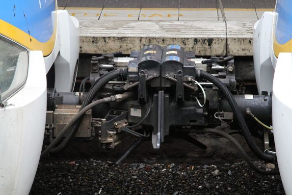 Dellner couplers link two Siemens trains