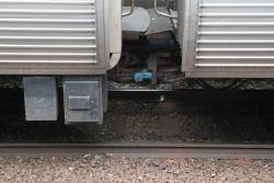 Drawbar and cables connect Alstom Comeng 597M to 1149T