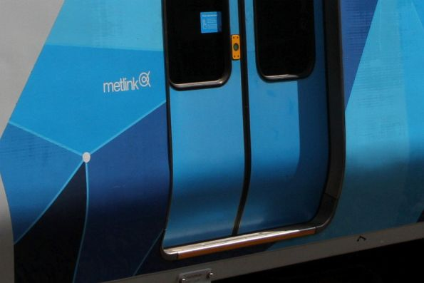 Forgotten 'Metlink' branding on an X'Trapolis train
