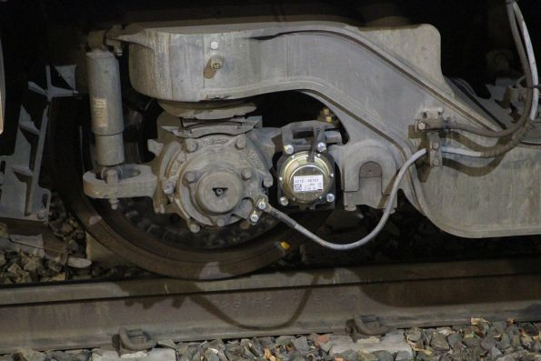 On-board diagnostics sensors fitted to the bogies of Siemens 769M