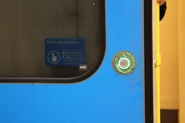 Siemens train door button minus outside cover