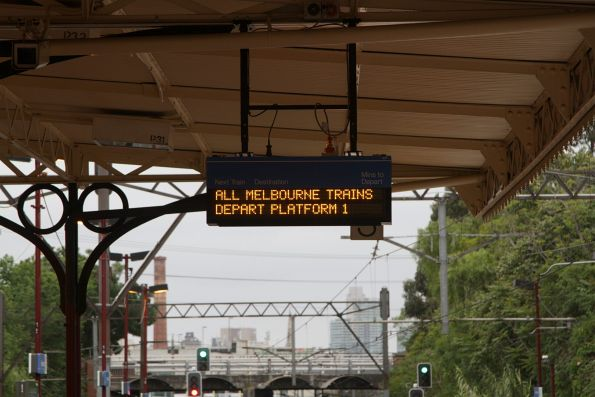 Recently installed LED PIDS installed at Hawksburn station platform 3